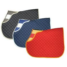 Rambo® Newmarket Handy Saddle Pad - Red/Gold - $59.99