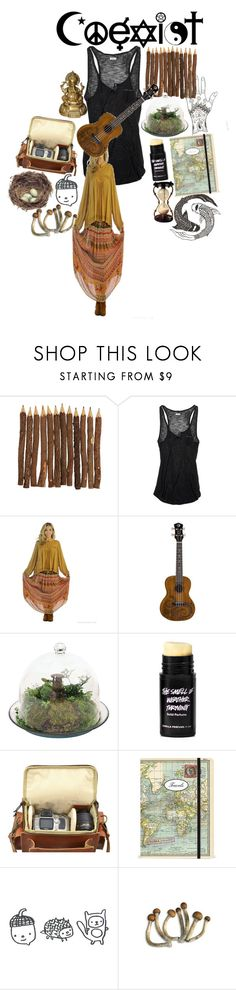"""""""all the lonely people, where do they all belong"""" by monstercats ❤ liked on Polyvore featuring CO, American Eagle Outfitters, Grafea and Cavallini & Co."""