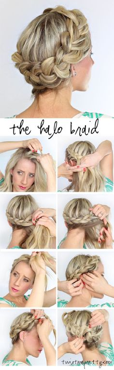 the halo braid   Top 10 Messy Braided Hairstyle Tutorials to Be Stylish This Fall  http://www.jexshop.com/