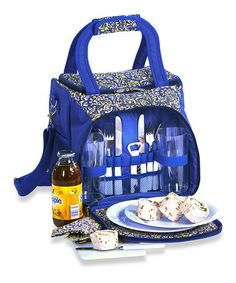 Another great find on #zulily! Bailey English Paisley Picnic Tote Set #zulilyfinds