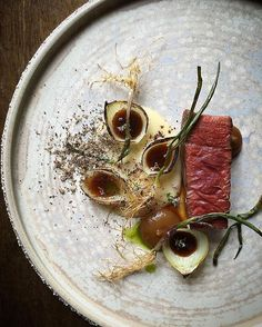 Beef, onions, and truffle by @chefdanielwatkins #TheArtOfPlating