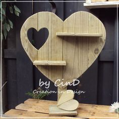 Houten decoratie hart / wooden decoration heart By CinD, Creation in Design wooden (& more) handmade wannahaves