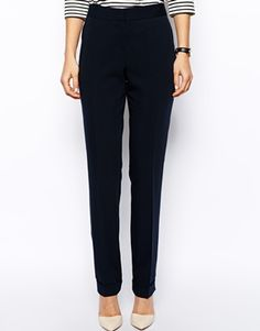 Image 4 of ASOS Pants In Straight Leg With Jet Pocket