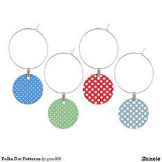 Polka Dot Patterns Wine Charm
