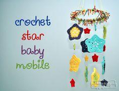 Crochet Star Mobile - Tutorial ❥ 4U // hf