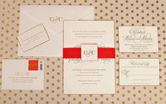 Gold Foil Wedding Invitations Ideas Gold Foil Monogram Wedding Invitation