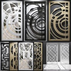 Ideas Metal Screen Wall Design For 2019 Laser Cut Screens, Laser Cut Panels, Door Gate Design, Main Door Design, Window Grill Design, Screen Design, Ceiling Design, Wall Design, Metal Screen Doors