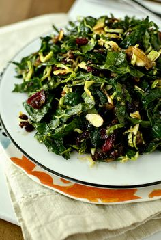 Kale Chopped Salad with Maple-Almond Vinaigrette | iowagirleats.com