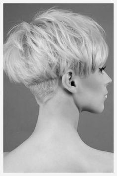 Undercut on pixie with longer sides. Keep bottom short as majority of length grows out.