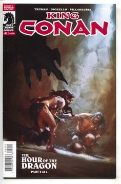 King Conan Hour of the Dragon Dark Horse) comic books Book Cover Art, Comic Book Covers, Comic Books Art, Comic Art, Darkhorse Comics, Red Sonja, Conan Der Barbar, Walt Disney, Conan Comics