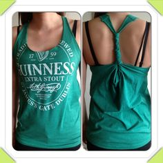 DIY Damsels: Make a Tank Top from a Guy's T-shirt. No sewing required.