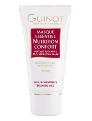 Guinot Mask Essential Nutrition Confort (1.7 oz.) by Guinot. Save 3 Off!. $35.01. Most Popular Mask sold. Guinot Mask Essenttial Nutri Confort contains Avocado oli,Camphor,Menthol and Titanium Dioxide,it minimizes dehydration lines,moisturizes epidermis and relaxes sign of fatigue.Brighetns the complextion. (1.7 oz.)