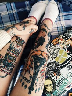 Tattooed legs
