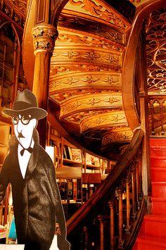 Fernando Pessoa at Lello Bookshop