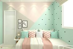 Cute Bedroom Ideas, Cute Room Decor, Room Ideas Bedroom, Baby Room Decor, Girls Bedroom, Bedroom Decor, Bedrooms, Bedroom Wall Designs, Room Design Bedroom