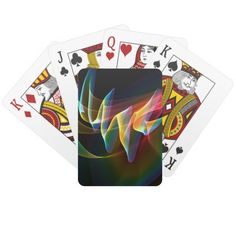 Northern Lights, Abstract Rainbow Aurora Card Decks