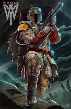 Boba Fett Star Wars 11 x 17 Digital Print by Wizyakuza on Etsy
