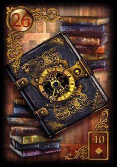 Saiba e aprenda mais sobre as combinações das cartas do Baralho Cigano Lenormand e aprofunde seus conhecimentos na carta Livros.