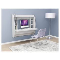 Find product information, ratings and reviews for Floating Desk with Storage White - Prepac online on Target.com.