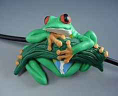 polymer clay frogs | Polymer Clay Sculpture - Sky Grazer Designs