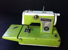 Vintage- Toy Green Sewing Machine - Sew mate Battery Operated Made in Japan | eBay