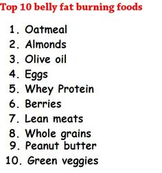 Top 10 belly fat burnes