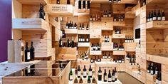 tienda de vino arquitectura, espacio interno