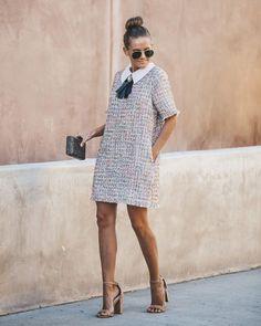 c9999c0a86502 Darling Dear Pocketed Embellished Shift Dress