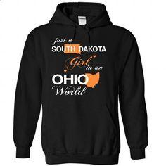 (SDJustCam002) Just A South Dakota Girl In A Ohio World - #baseball shirt #hipster tshirt. CHECK PRICE => https://www.sunfrog.com/Valentines/-28SDJustCam002-29-Just-A-South-Dakota-Girl-In-A-Ohio-World-Black-Hoodie.html?68278