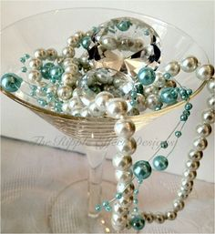 Breakfast at Tiffany theme. Follow us on Facebook for current designs and ideas https://www.facebook.com/DistinctWeddings