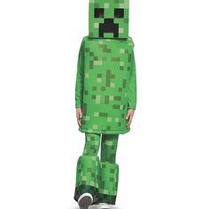 Minecraft Creeper Prestige Small Child's Halloween Costume Multi Costume Garçon, Dress Up Costumes, Boy Costumes, Disney Costumes, Cosplay Costumes, Creeper Minecraft, Play Minecraft, Minecraft Skins, Minecraft Buildings