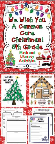 Common Core Christmas Literature and Math Activities 5th Grade: Relax, your lesson plans can be done! Have a Common Core Christmas with these engaging math, reading, and writing activities! This pack has literature unit for The Best Christmas Pageant Ever. It is also packed with Christmas themed writing and math activities! Also available for 3rd and 4th grade. $