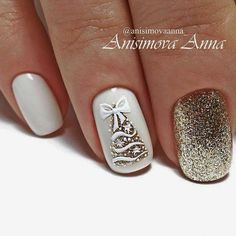 Festive nail art ideas for Christmas to Beautify the Mom.- Festive nail art ideas for Christmas to Beautify the Moment - Xmas Nail Art, Christmas Gel Nails, Christmas Nail Art Designs, Winter Nail Art, Holiday Nails, Winter Nails, Christmas Ideas, Nail Art For Christmas, Christmas Holiday