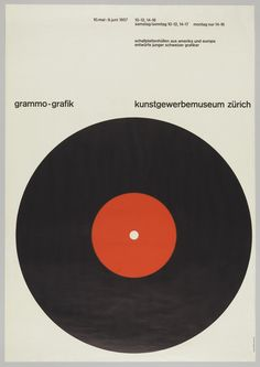 Poster, Grammo-Grafik [Record Graphics], 1957 | hqyx | Visits | Collection of Cooper Hewitt, Smithsonian Design Museum