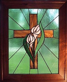 The Cross and Lily for Grace and Love.