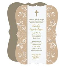 Elegant Blush Baptism Invitations with Verse - classy gifts custom diy personalize