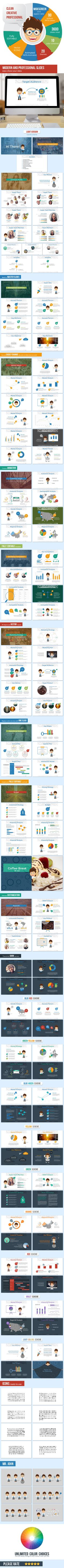 Business Plan with Mr. John Presentation Template (PowerPoint Templates)