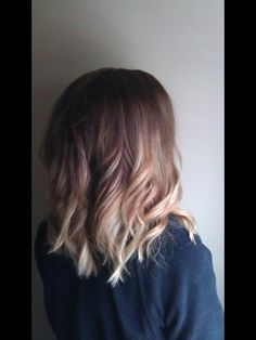 brown to blonde. don't usually like too much blonde but it looks great here!