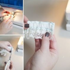 Check out this detailed, step by step tutorial on how to make a wedding garter! Don't waste money when you can make your own!
