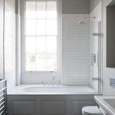 Small Bathroom With Bath, Master Bathroom Tub, Small Bathroom Layout, Bathtubs For Small Bathrooms, Small Bathroom Showers, Bathroom Paneling, Small Bathtub, Bathtub Shower Combo, Bathroom Tub Shower