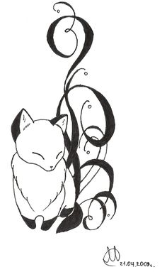 I love this idea for an adorable fox tattoo...courtesy of Jessie