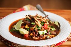 Slow Cooker Chicken Chili Tortilla Soup Recipe - Jeanette's Healthy Living
