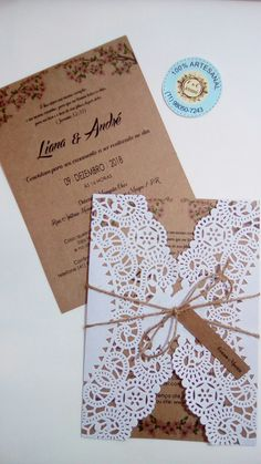 You desire a wedding event invite to complement the total theme and mood of the wedding. Is your wedding official or casual? A formal wedding event may require timeless script font styles, formal phrasing, and the traditional double envelope. Creative Wedding Invitations, Rustic Invitations, Wedding Invitation Design, Wedding Favors, Doily Wedding, Our Wedding, Formal Wedding, Diy Wedding Decorations, Simple Weddings