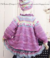 Ravelry: Romantic Summer Cardigan with Flowers pattern by Ingunn Santini for  sale $6.00
