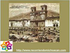 MICHOACÁN MÁGICO te habla del primer edificio que se construyó  en Uruapan, este es el templo de San Francisco, su arquitectura es plateresca imitando el estilo de los templos que se hacían en España en el año de 1536, además de convento se usaba también para escuela de los indígenas. BEST WESTERN MORELIA http://www.bestwestern.com.mx/best-western-plus-gran-hotel-morelia/