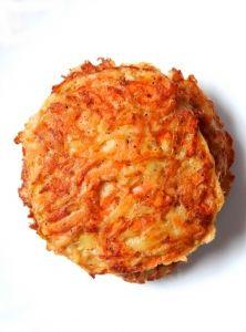 Carrot-onion pancakes