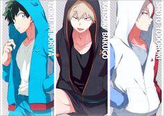 Boku no Hero Academia    Midoriya Izuku, Katsuki Bakugou, Todoroki Shouto.