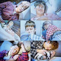 Ikon. Bobby is so cute~  #sleepingcuties