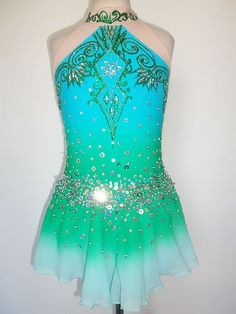Custom Made New Ice Skating Baton Twirling Dress Costume | eBay