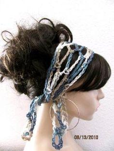 Artículos similares a BUY 2 hair scarfs GET 1 hair scarf FREE - Crochet Gypsy Style Hair Band and Scarf en Etsy Crochet Crafts, Hand Crochet, Free Crochet, Knit Crochet, Gypsy Crochet, Hippie Style, Gypsy Style, Crochet Hair Accessories, Crochet Hair Styles